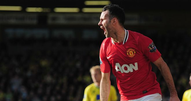 Ryan Giggs scored the winning goal for Manchester United at Norwich