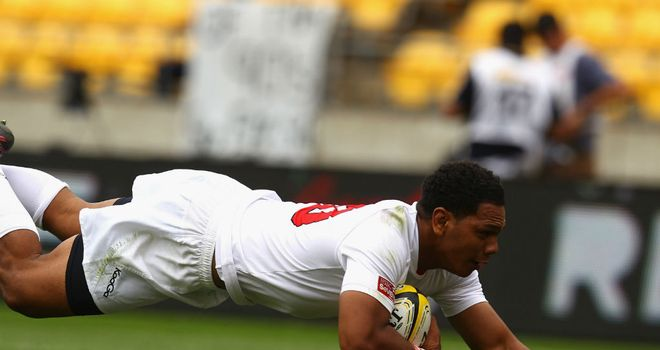 Samiuela Vea scores for Tonga against Wales