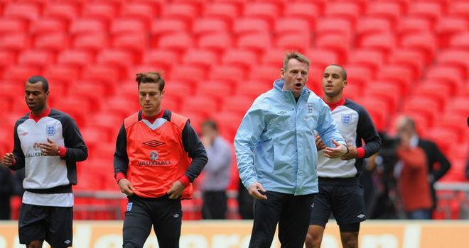 Scott Parker: Trained with Stuart Pearce's England squad at Wembley on Tuesday