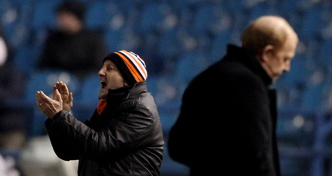 Ian Holloway: Happy with his rebuilt Blackpool team