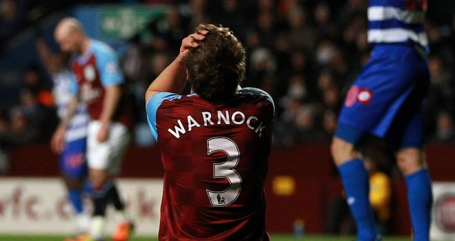 Stephen Warnock: Has called for Villa's young side to fight their way out of the mire