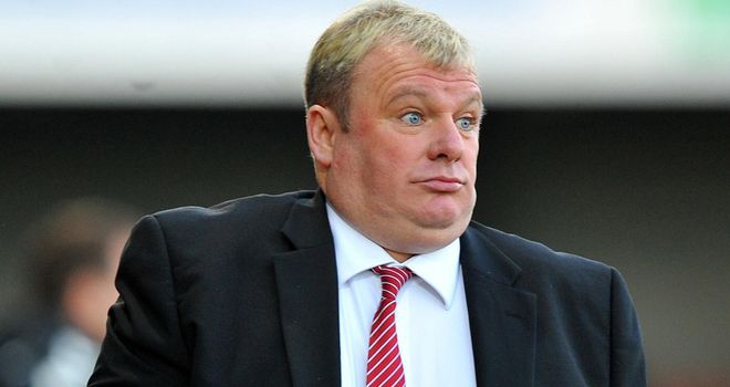 Steve Evans: Disappointed with the performance of the referee