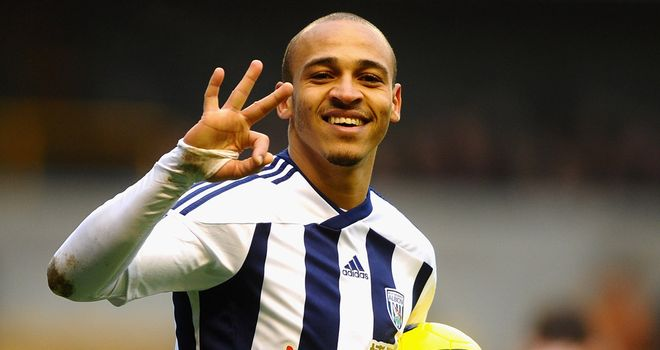 Peter Odemwingie: Hat-trick helped West Brom to victory over Wolves