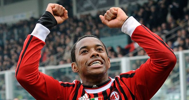 Robinho: Brazilian striker is still enjoying life at Milan, according to his agent