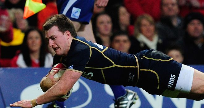 Stuart Hogg: Scotland's rookie full-back struggled in Dublin