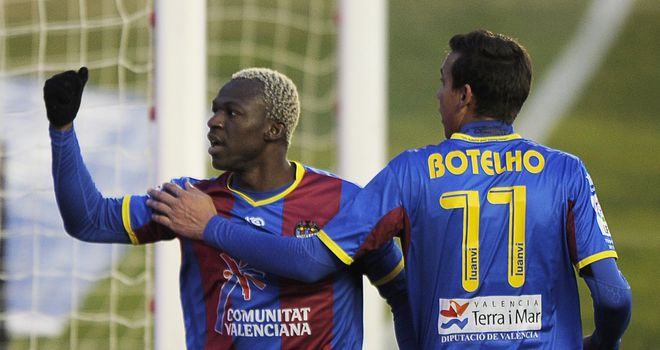 Arouna Kone: On the mark for Levante in the 3-1 win over Real Betis