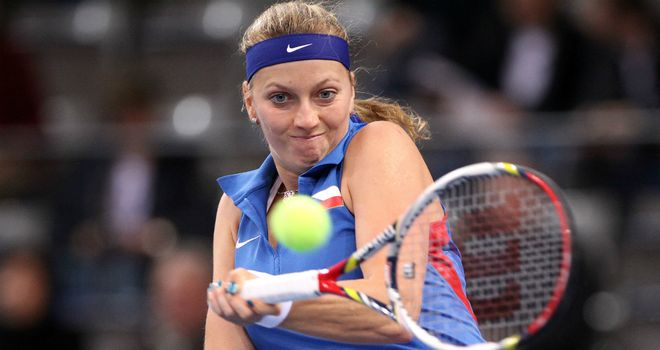 Petra Kvitova: came from set down to beat Julia Georges 10-8 in deciding set