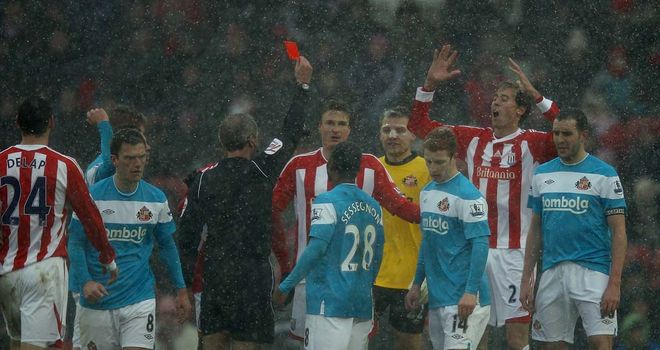 Robert Huth: Saw red during Stoke's defeat to Sunderland