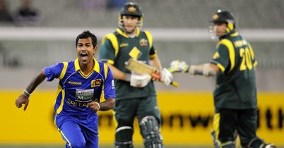 Nuwan Kulasekara claimed the match-clinching wicket of David Hussey