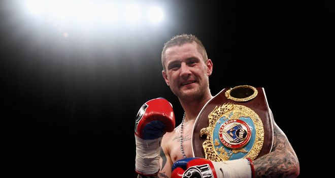 Light up: Burns puts his WBO title on the line against Namibian Moses this weekend
