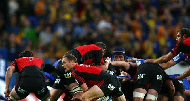 Andy Ellis in action during the Highlanders' clash with the Crusaders