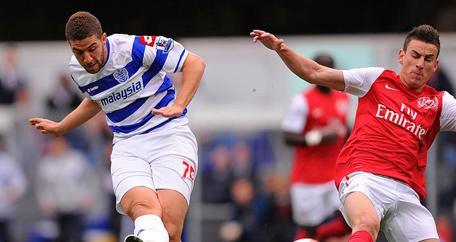 Adel Taarabt: QPR man broke his Premier League duck with the opening goal in their 2-1 win over Arsenal