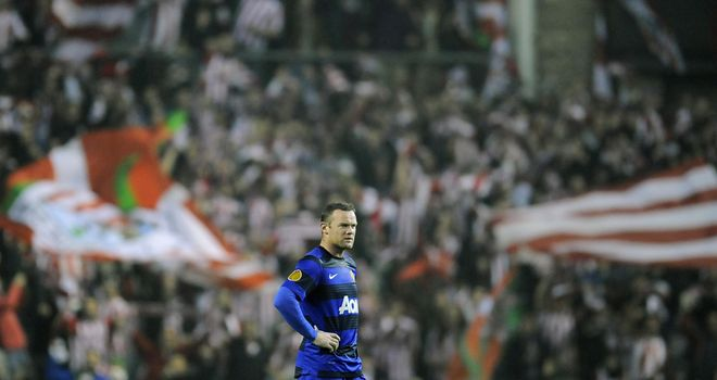 Wayne Rooney scored a late consolation but it was a miserable night for Man Utd