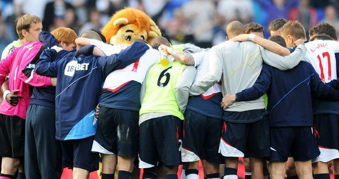 Bolton: Celebrate their win over Blackburn