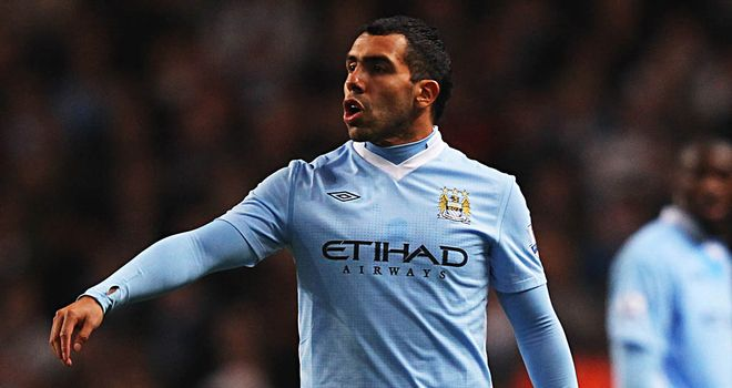 Carlos Tevez: Pushing hard for a starting berth at Manchester City