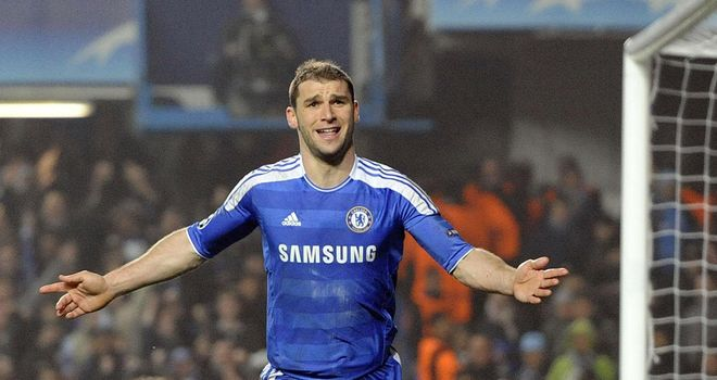 Branislav Ivanovic: Chelsea defender is an injury doubt for the game at Aston Villa