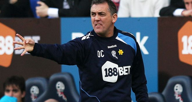 Owen Coyle: Determined to pick up three points when Bolton entertain Aston Villa