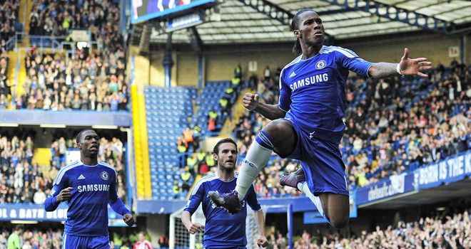 Didier Drogba: Chelsea striker scores a landmark goal for the club