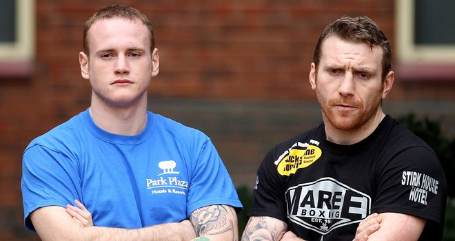 Annoying: George Groves (left) and Kenny Anderson