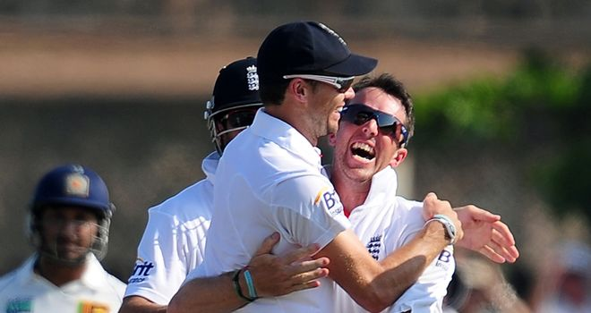 Fight back: Swann celebrates another wicket