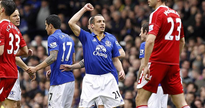 Leon Osman has saved his best football for this season according to Everton team-mate Leighton Baines