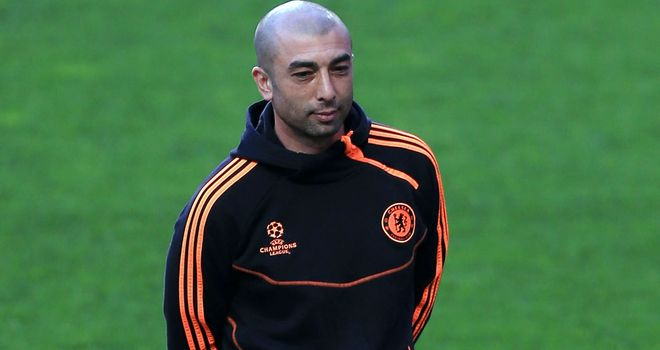 Roberto di Matteo: Chelsea's interim boss is focused on progressing in the Champions League