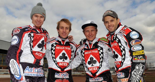 Four of last year's Belle Vue Aces squad