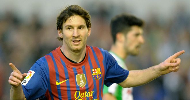 Lionel Messi: Was on target for Barcelona against Sevilla