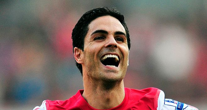 Mikel Arteta: Will miss the rest of the season after suffering an ankle injury against Wigan on Monday
