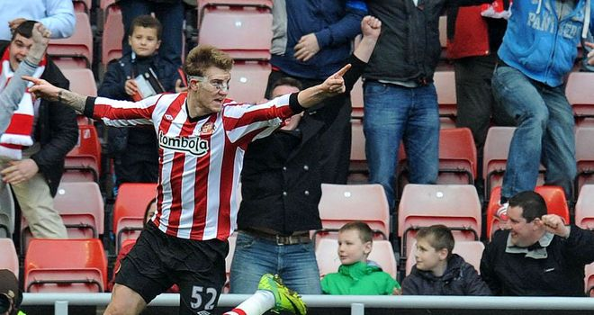 Nicklas Bendtner: Full of confidence and catching the eye for Sunderland