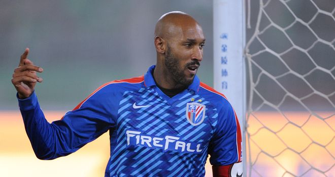 Nicolas Anelka: The former Chelsea frontman has scored twice for Shanghai Shenhua this season