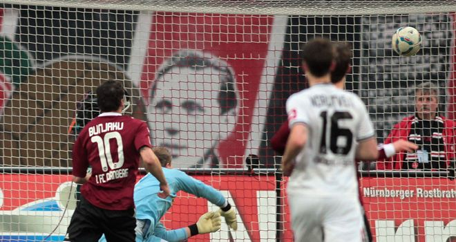 Albert Bunjaku: Fired Nurnberg to victory over Monchengladbach
