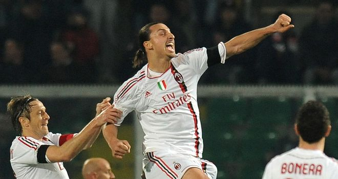Zlatan Ibrahimovic: Sweden striker netted a hat-trick as Milan crushed Palermo