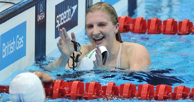 Rebecca Adlington: Set a new championship record in 800m freestyle