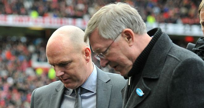 Steve Kean and Sir Alex Ferguson: Set to go head-to-head on Monday night