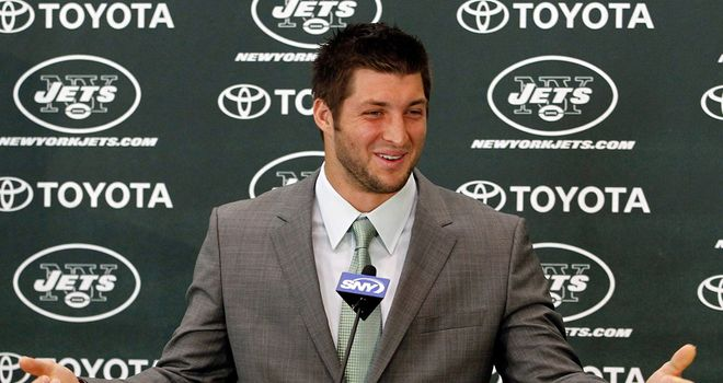 Tebow: arrives in The Big Apple