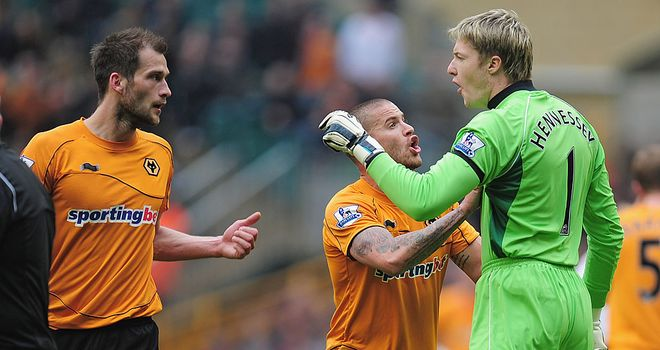 Roger Johnson: Clashed with Wayne Hennessey during defeat to Bolton