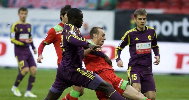 Christopher Samba: Anzhi have called on Lokomotiv to identify fan who threw banana