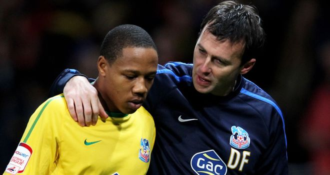 Dougie Freedman: Crystal Palace boss (right) becoming frustrated by rumours over young defender Nathaniel Clyne