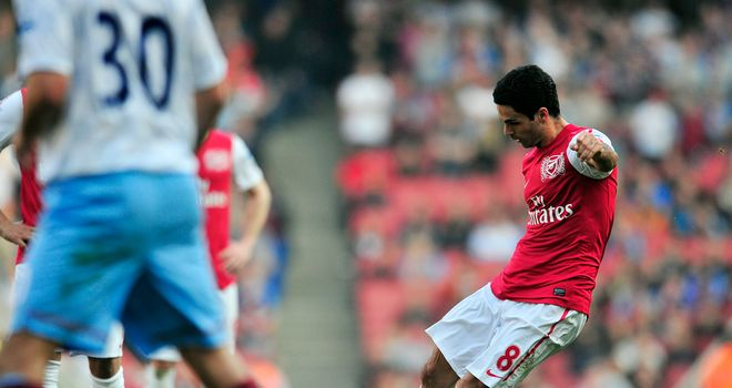 Mikel Arteta: Scored spectacular winner for Arsenal