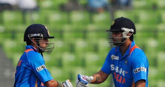 Gautam Gambhir (left) and Virat Kohli: double-century stand