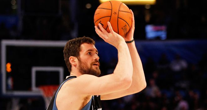 Kevin Love: Scored 51 points for the Timberwolves