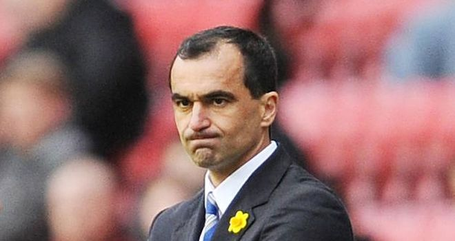 Roberto Martinez: The Wigan manager was left frustrated after a 2-0 defeat at home to Swansea