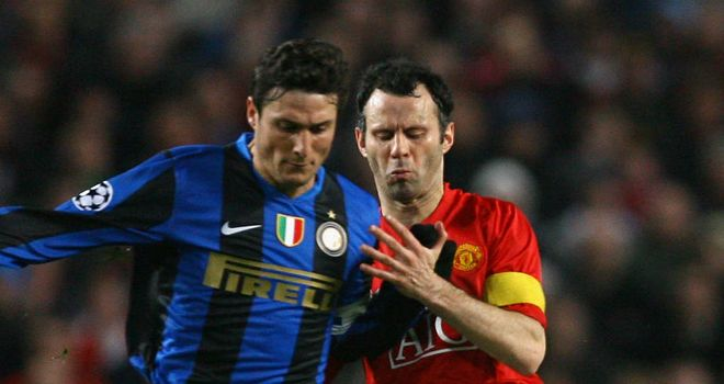 Ryan Giggs: Manchester United veteran says Inter Milan full-back Javier Zanetti was his toughest opponent