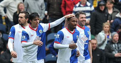 Hoilett: Celebrates goal at Ewood