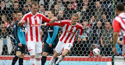 Peter Crouch: Scores against Arsenal last season