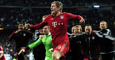 Bayern Munich: Celebrate their penalty shootout success