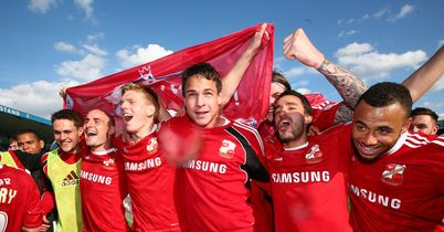 Swindon: Celebrating promotion