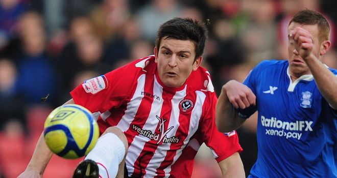 Maguire: Bagged a brace in Blades win