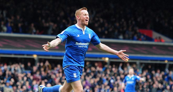 Rooney: Celebrates his goal for City